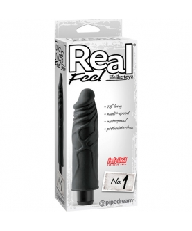 Real feel lifelike toyz vibrador num 1 negro
