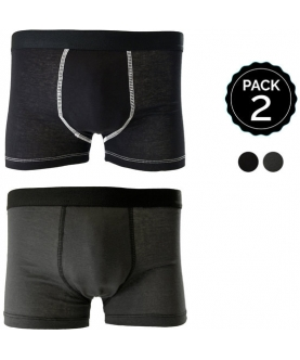 Set 2 boxers marginal negro+antracita