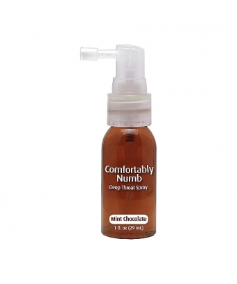 Comfortably numb spray garganta profunda sabor chocolate con