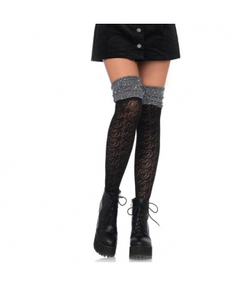 Leg avenue calcetines altos lurex con fantasía