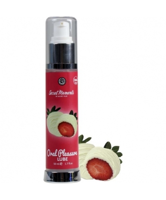 Lubricante comestible choco blanco y fresa 50 ml.