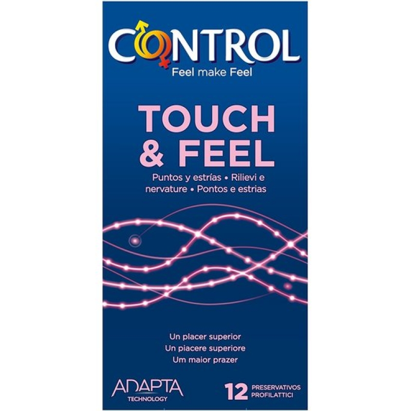 Preservativos control touch & feel 12uds