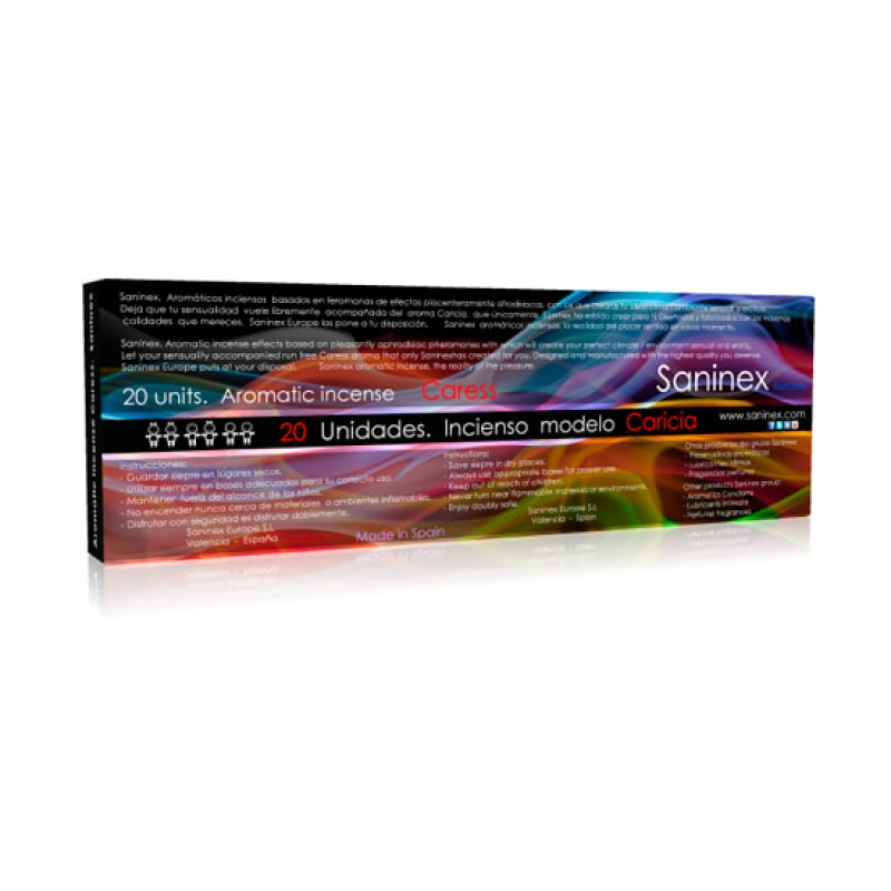 Saninex incienso aromatico caricia pheromone 20 sticks